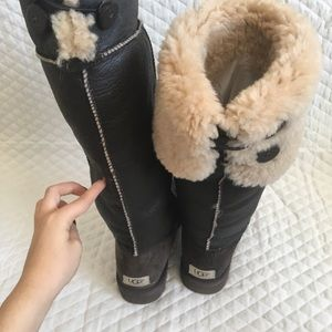 UGG Shoes - RARE black suede bailey over the knee ugg boots